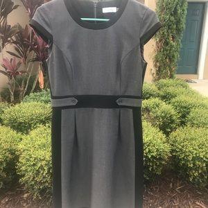 Black and grey Calvin Klein dress